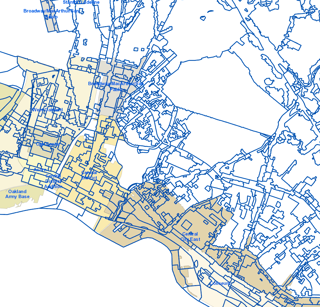 Oakland Zoning Map Planning and Zoning Map